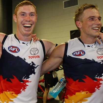 Tom Lynch  and Bernie Vince . Tom kicked 10 goals against GWS. Great win