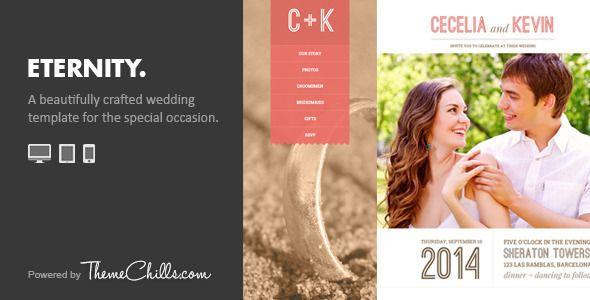 Eternity - Responsive Wedding Template