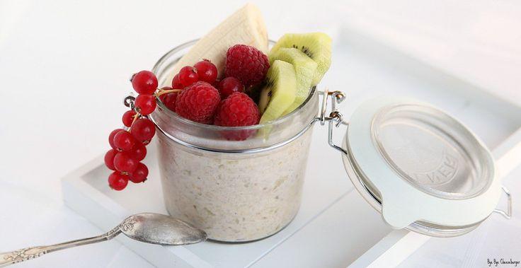 Appel-Kaneel overnight oats met fruit | Bye Bye Cheeseburger