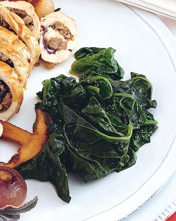 This simple side dish works well alongside our Radicchio and Mushroom Roulade.