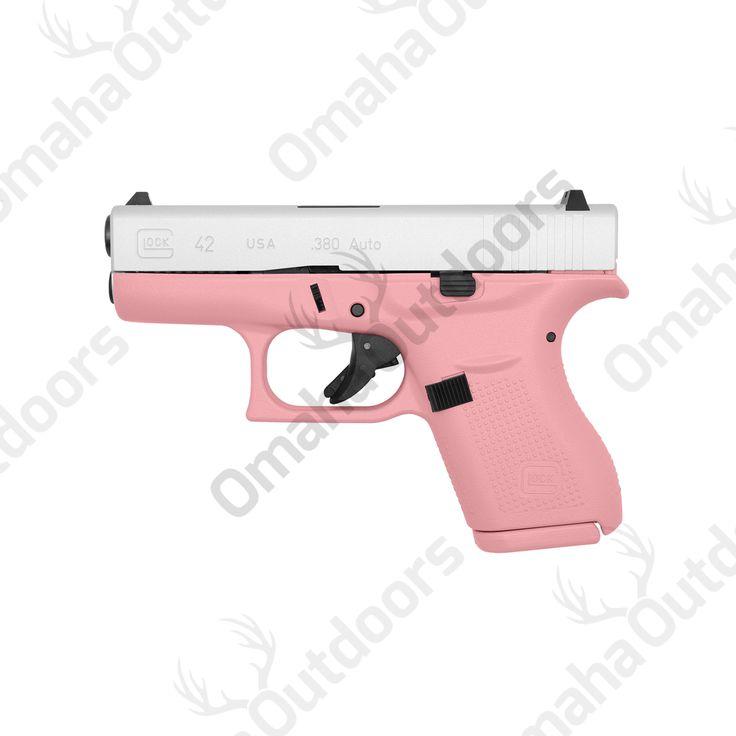 Glock 42 Victoria Pink 380 ACP 6 RDS 3.25″ Handgun - Omaha Outdoors