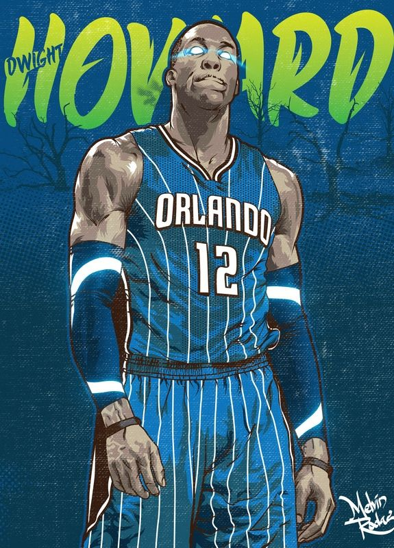 Dwight Howard 'Magic Beast' Illustration