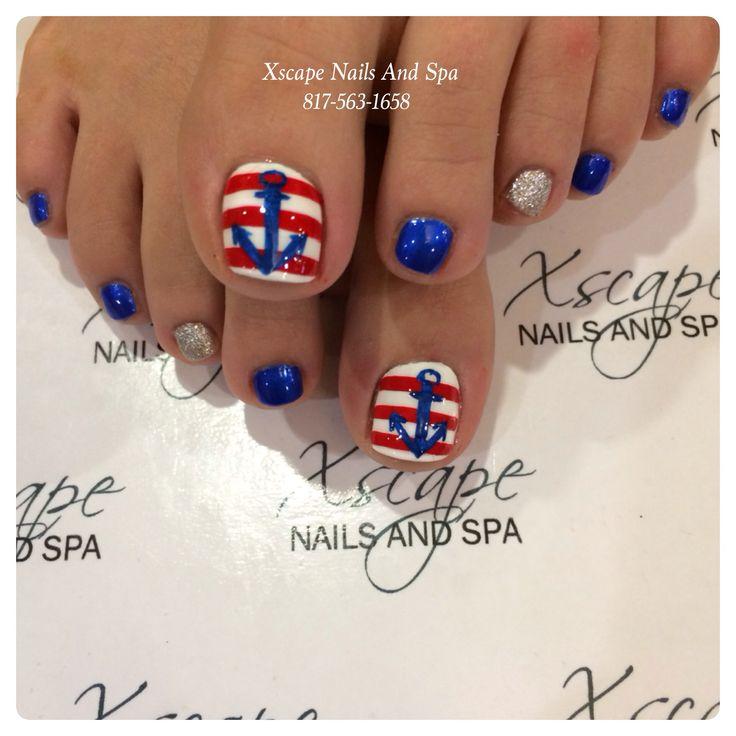 Toe Nail Designs Cruise ~ Simple tricolour nail art nailbees