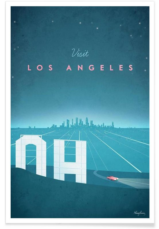 Los Angeles en Affiche premium par Henry Rivers | JUNIQE