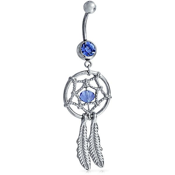 Bling Jewelry Catcher On The Sly Body Jewelry (140 MXN) ❤ liked on Polyvore featuring jewelry, blue, body jewelry, body-piercing-rings, body jewellery, imitation jewelry, dangling jewelry, steel body jewelry and artificial jewellery
