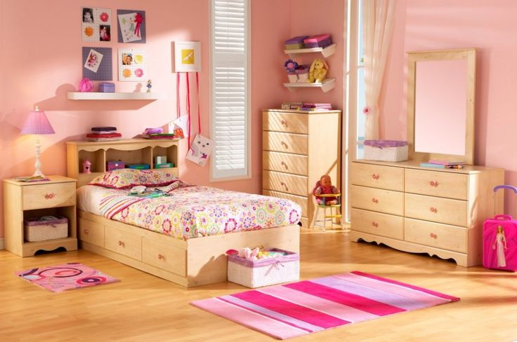 Girl Bedroom. Inspiring The Design Ideas And Contemplation When Obtaining Kids Bedroom Furniture: Charming Children Bedroom Furniture Design For Girls With Colourful Wall And Cute Bedroom Sets Also Pink Carpet Ideas ~ wegli