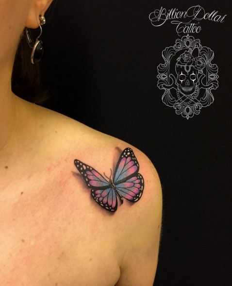Gorgeous Butterfly Tattoo by Valentina Buggio