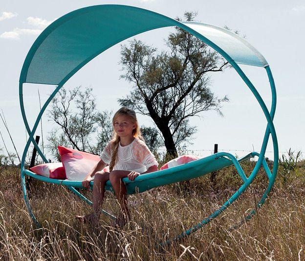 Fermob Osmose - Le hamac Osmose ne manquera pas de bercer toute une génération de siesteurs !