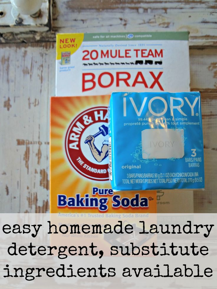 easy DIY laundry detergent, only 3 ingredients, cost effective and works great!