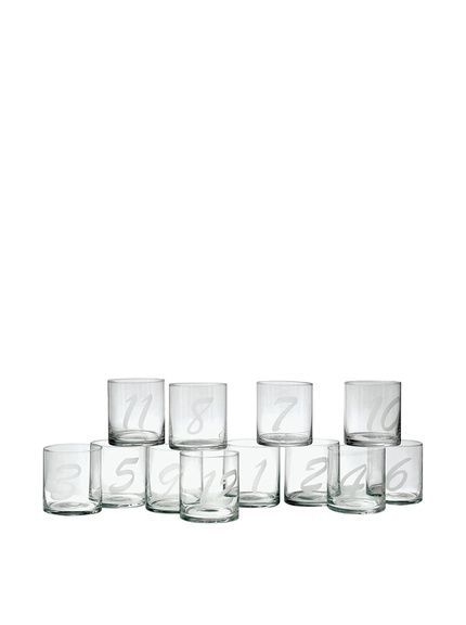 hip vintage set of 12 amador tumblers clear at myhabit