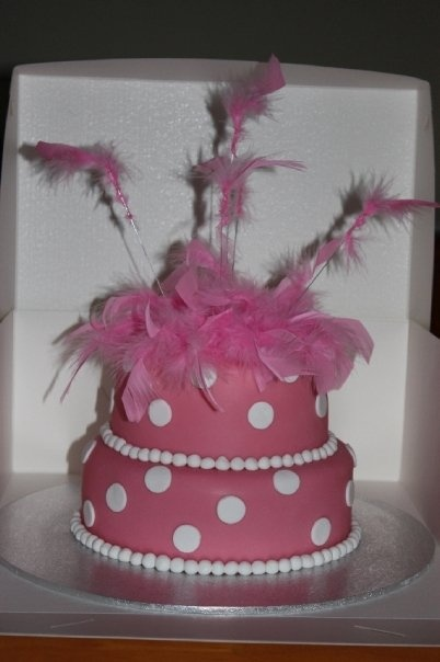 Feather Boa inspired birthday cake