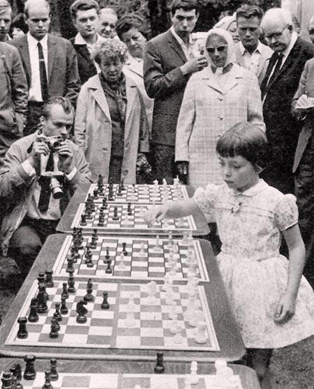 Six year old Jutta Hempel