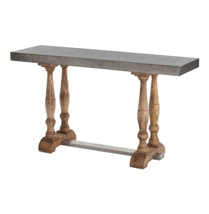 This Furniture Is Manufactured From Wooden Leg And Galvanized Iron Table  Top. It Is Perfect