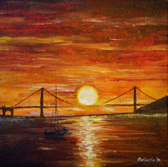 Golden Gate Bridge San Francisco California Sunset Picture: Sunset At Golden Gate Bridge In San Francisco By