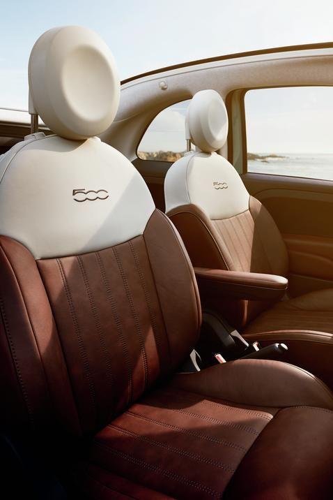 en conjunto con el diseño exterior del Fiat 500 1957 Edition Interior