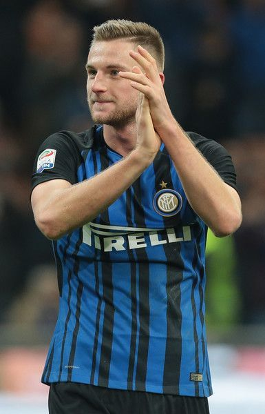 Milan Skriniar of FC Internazionale Milano greets the fans at the end of the Serie A match between FC Internazionale and AC Chievo Verona at Stadio Giuseppe Meazza on December 3, 2017 in Milan, Italy.