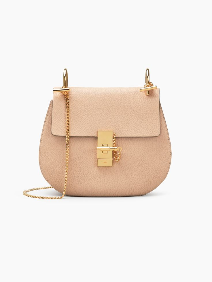 Drew shoulder bag in small grain lambskin from Chloé's Festive selection makes the perfect gift