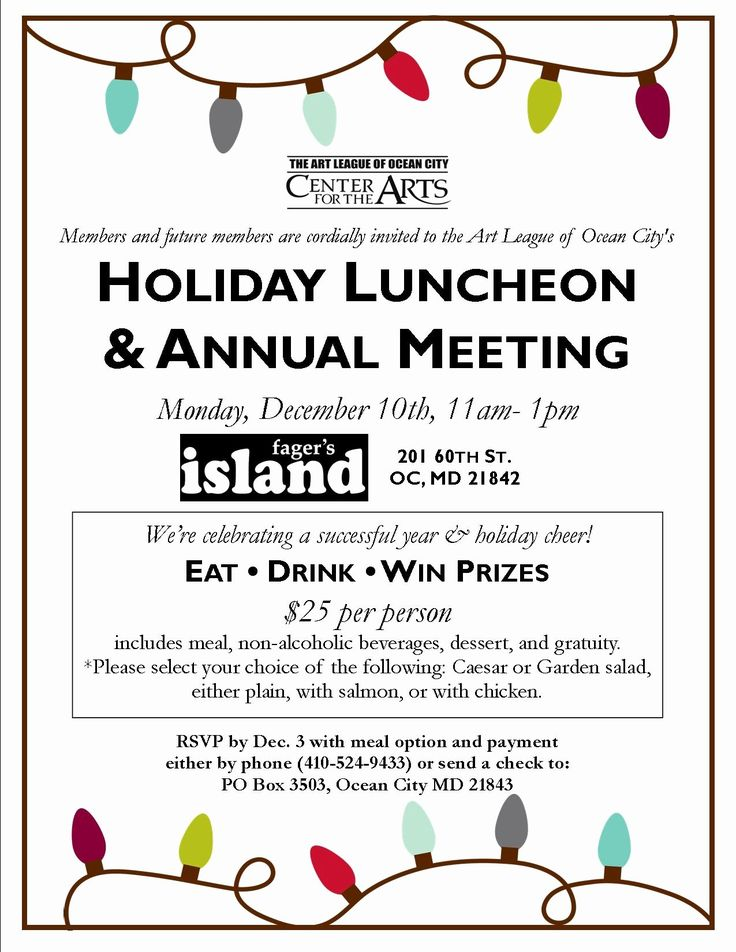 holiday luncheon invitation template inspirational 12 10