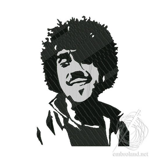 Phil Lynott Embroidery Machine Embroidery Design Thin