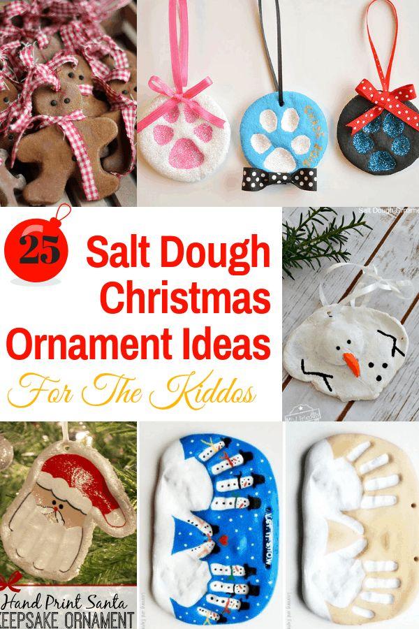 25 Salt Dough Christmas Ornament Ideas for The Kiddos