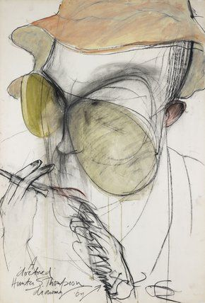 Hunter S. Thompson by Ralph Steadman.