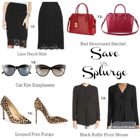 The Classy Woman ® || The Modern Guide to Becoming a More Classy Woman : Save vs. Splurge: Ladylike Wardrobe Essentials