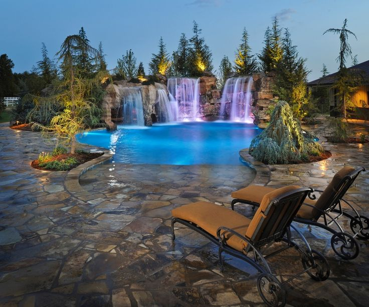 603 best pools images on pinterest dream pools swiming for Luxury pools with waterfalls