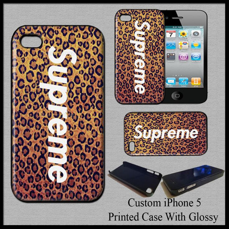 Hard Case Cover For iPhone 5 Supreme Leopard NewYork Clothing Swag Fit For Gift