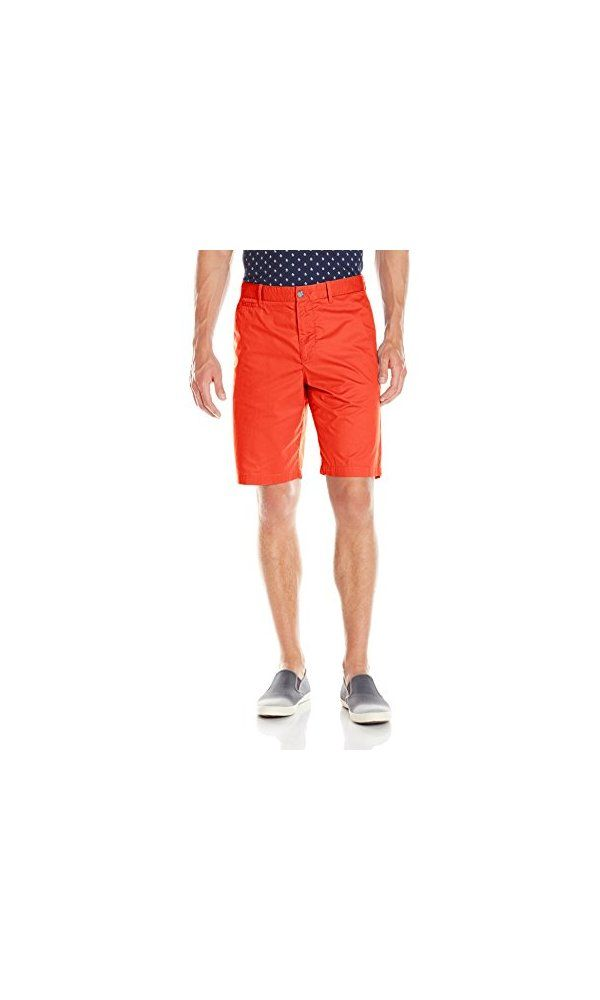 Original Penguin Men s Basic Twill Slim Fit Short- Fiery Red- 29 from  Original Penguin- Comfortable cotton twill steps easily into the  warm-weather season.