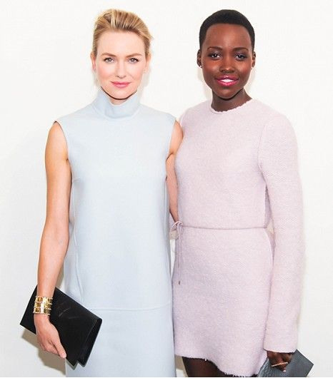 WHO: Naomi Watts and Lupita Nyong'o WHAT: At the Calvin Klein Collection F/W 14 show. WEAR: Both wearing Calvin Kleing Collection.