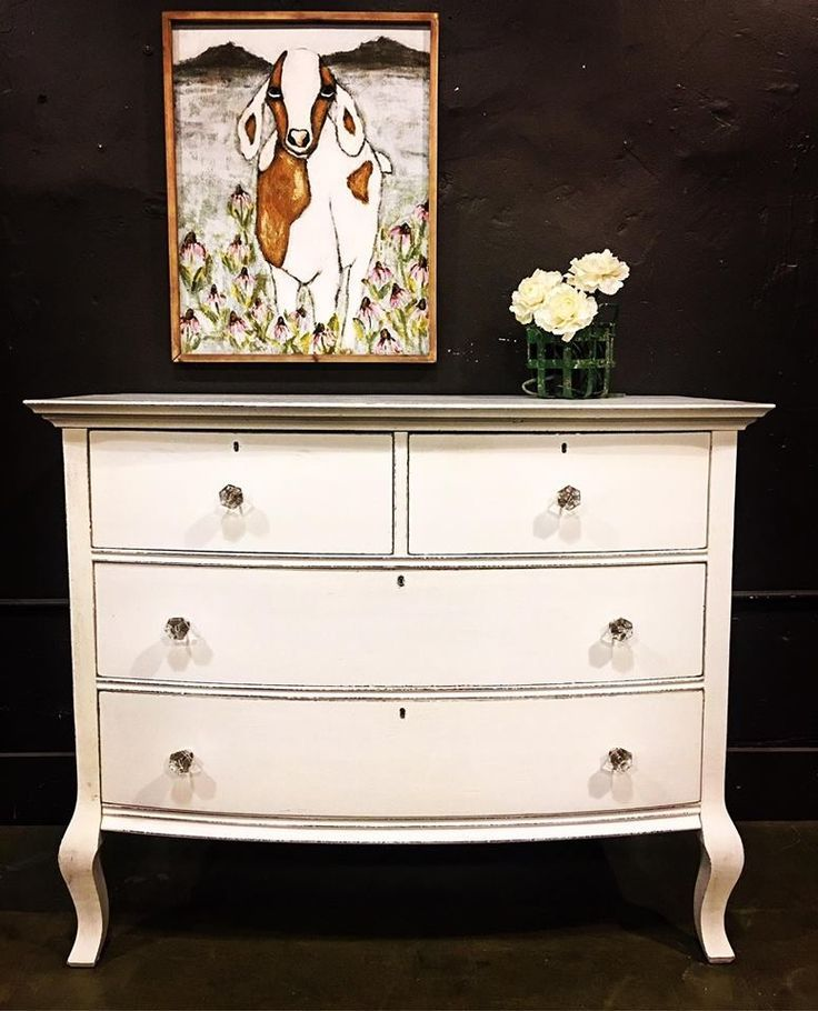 white painted dresser - general finishes #paintedfurniture