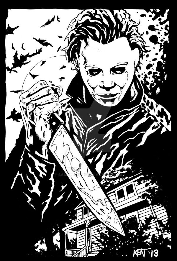 michael myers coloring pages - photo#23