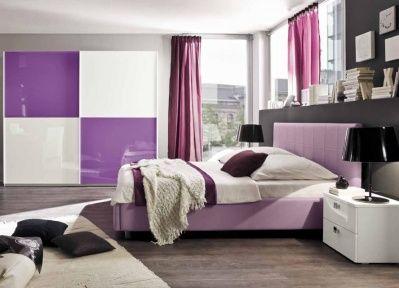 Camera moderna rosa e bianco idelshop