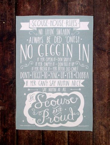 Scouse House Rules Tea Towel (SHRTT) – Wot Ma Like
