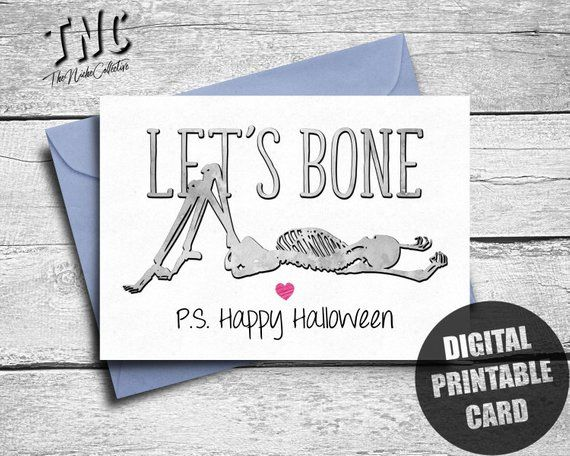 Sexy Halloween Card Boyfriend, Printable, Funny Halloween Card