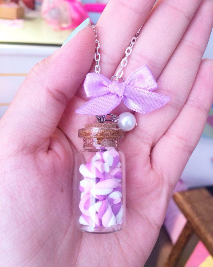 Custom marshmallows necklace #SweetsnPearls #cute #cuteness #kawaii #pastel #polymerclay  ✔️www.sweetsnpearls.etsy.com