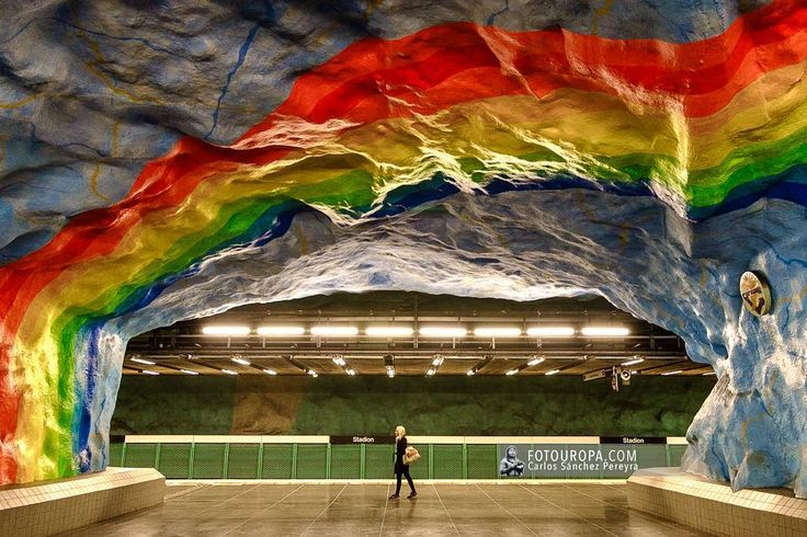 Los lunes en #estocolmo #metrostation