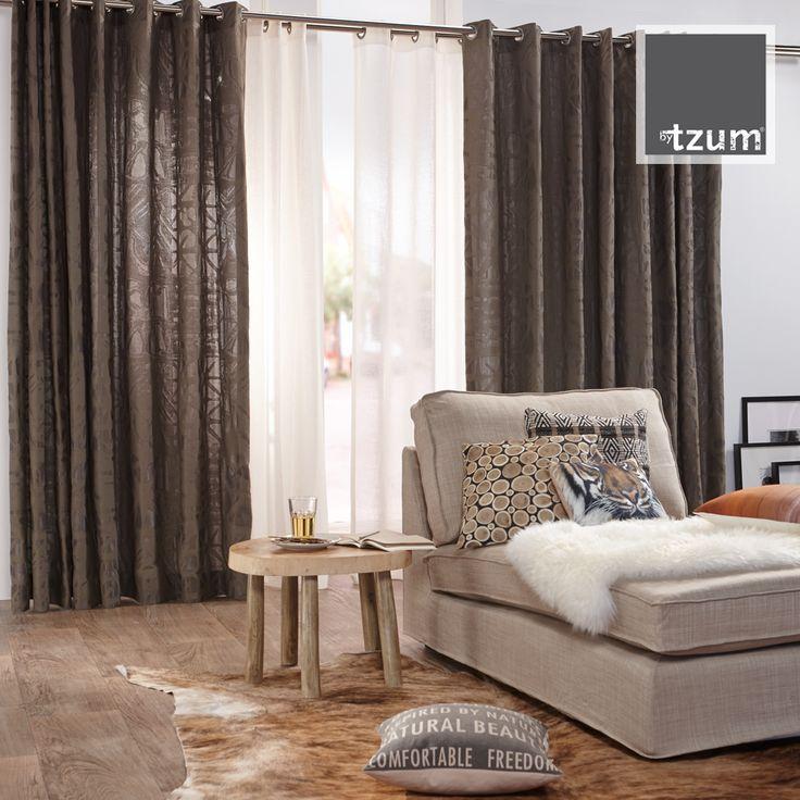 Original #curtains for an easy lifestyle. Authentic, stoer en natuurlijk. Mooie #gordijnen voor de woonkamer of slaapkamer.