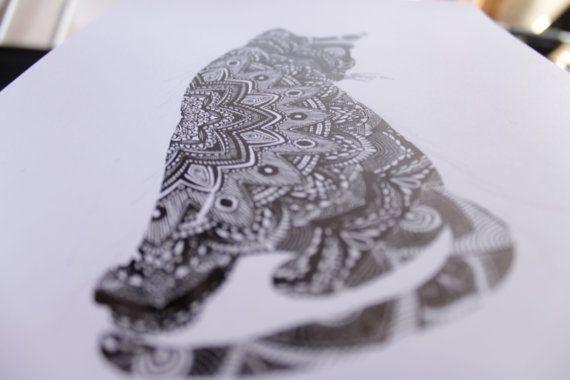 Cat  Black Foil Print by cintarose on Etsy