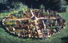 A medicine wheel growing herbs for ceremony & healing
