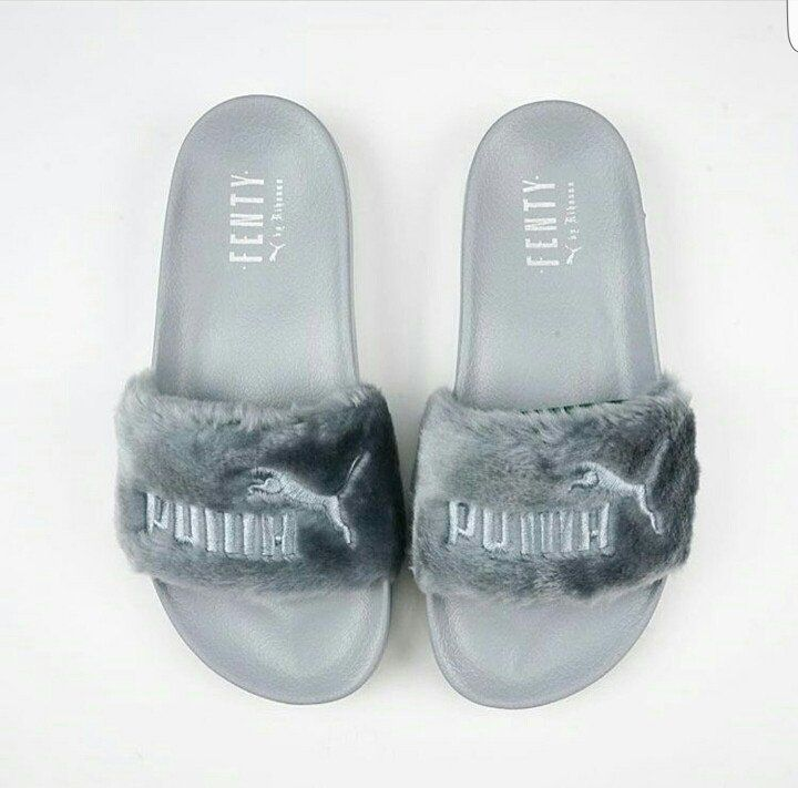 Color: Quarry ELIGIBLE FOR FREE SHIPPING SHIPS SAME DAY BEFORE 3 PM EASTERN TIME The Fur Slide, the third style to unleash from the FENTY PUMA by Rihanna collection, is a daring, cozy spin on a PUMA c