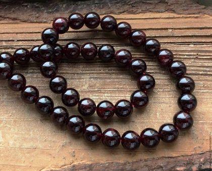 Для украшений ручной работы. Ярмарка Мастеров - ручная работа. Купить Гранат шар 8 мм гладкий бусины камни для украшений. Handmade.