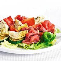 Recept - Salade met rosbief en artisjokharten - Allerhande