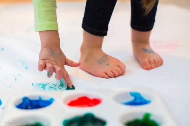 Съедобные пальчиковые краски для самых маленьких