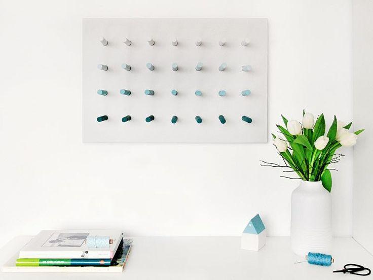 DIY-Anleitung: Memoboard, Schmuckaufbewahrung oder Pinnwand selber bauen via DaWanda.com