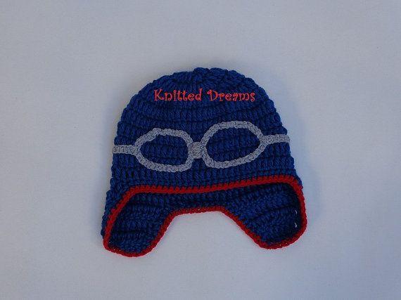 Handmade Crochet pilot's hat for the boys. Aviator hat. by tatocka, $24.00