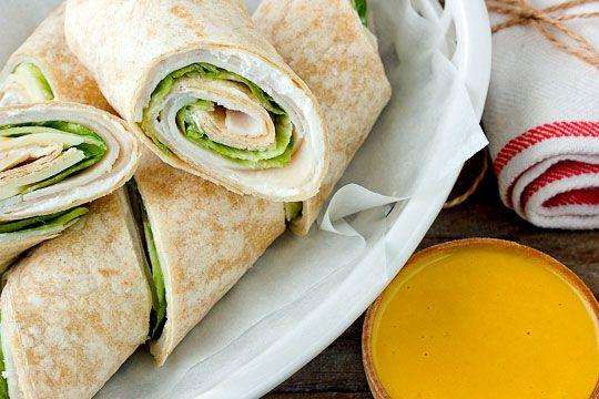 Turkey Wraps with Honey Mustard Dip | Recipe
