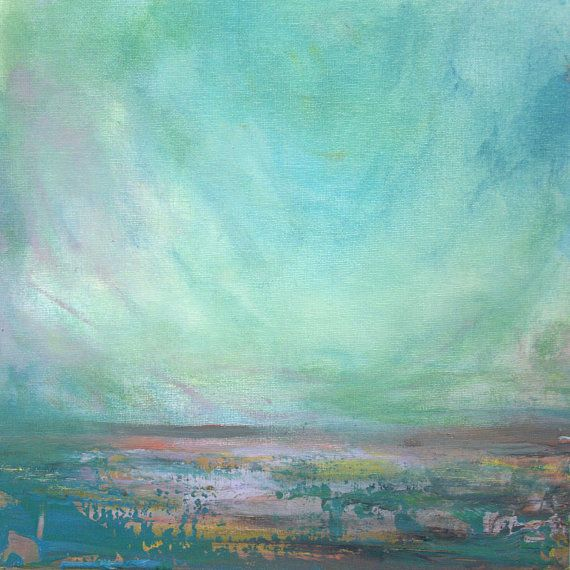 Seascape with Lavender Impressionist Painting  Fine by annieflynn1