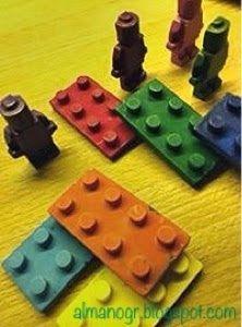 Lego wax crayons  #waxcrayons #legowaxcrayons #handmadecrayons #kidsstuff #almanogr