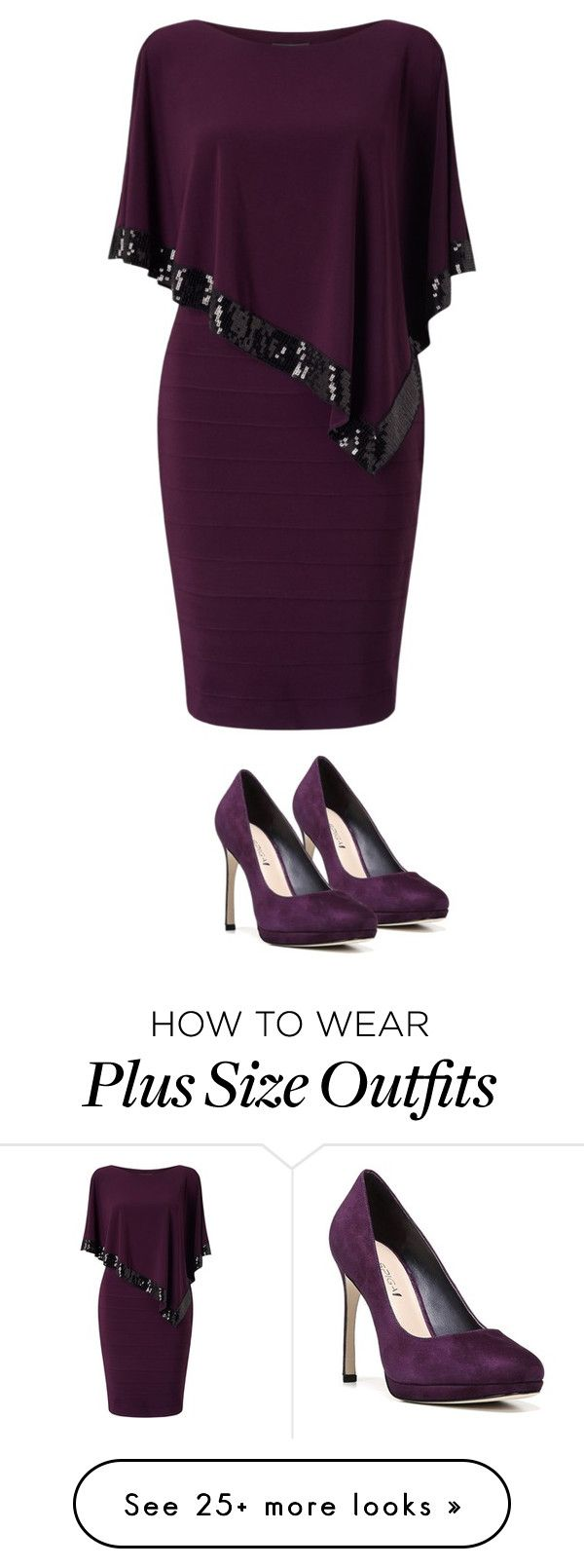 """Untitled #1979"" by yellowandpinkbunny on Polyvore featuring Adrianna Papell, Via Spiga and plus size dresses"